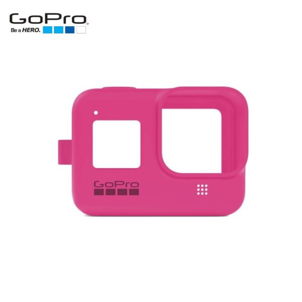 GoPro-silicone-case-with-strap-for-camera-hero8-pink-ajsst-007-sleeve-lanyard